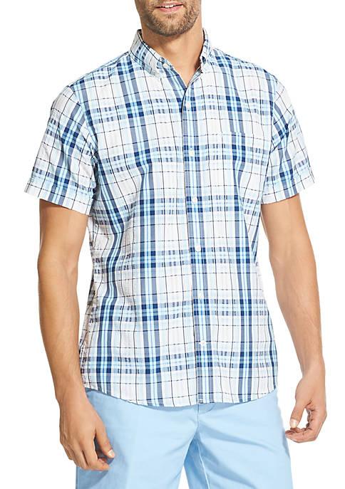 Breeze Plaid Short Sleeve Button Down Shirt