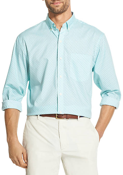 IZOD Premium Essentials Printed Button Down Shirt