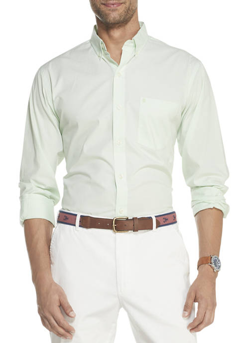 Mens Premium Essentials Stretch Button Down Shirt