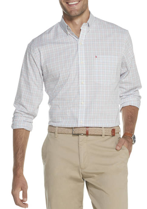 Premium Essentials Stretch Tattersall Button Down Shirt