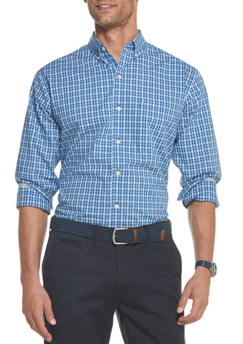 IZOD Mens Premium Essentials Stretch Check Button Down