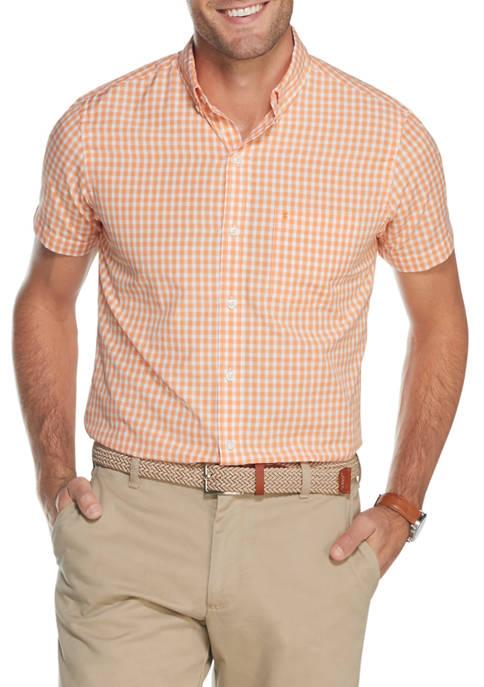 Advantage Performance Check Short Sleeve Button Down Shirt