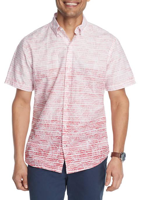 IZOD Dockside Chambray Printed Button-Down Shirt