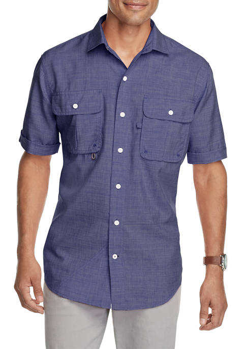 IZOD Saltwater Performance Beach Button Up Shirt