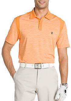 IZOD Short Sleeve Space-bye Shoulder Piece Polo Shirt