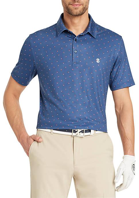 Patriots Printed Golf Polo
