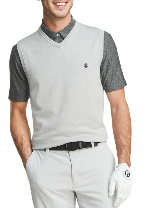 IZOD Mens Golf Knit V Neck Vest