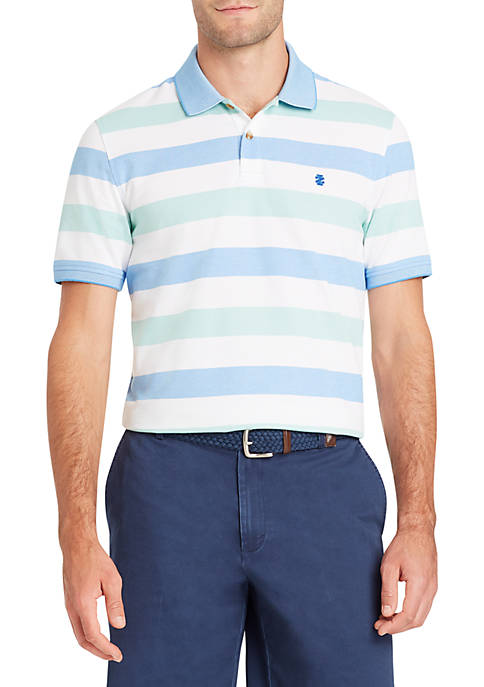 IZOD Short Sleeve Multi Stripe Polo
