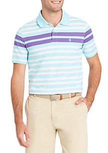 Short Sleeve Engineered Stripe Polo