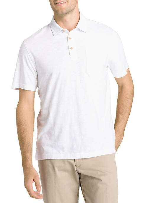 IZOD Short Sleeve Slub Polo