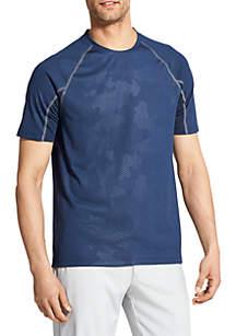 Short Sleeve Pieced Crew Neck Shirt