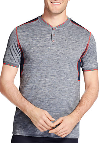IZOD Short Sleeve Pieced Heather Raglan Tee Cheap Find Great Buy Cheap Many Kinds Of Ldk0rLD9K