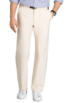 IZOD Straight Fit Wrinkle Free Belted Oxford Pants