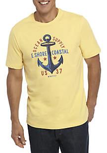 Short Sleeve Ocean Supply Anchor Graphic Tee
