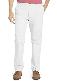 IZOD Stretch Flat Front Washed Chino Pants