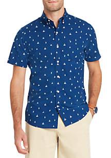 Short Sleeve Sailboat Breeze Button Down Shirt