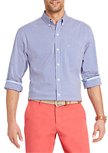 Long Sleeve Gingham Button Down Shirt