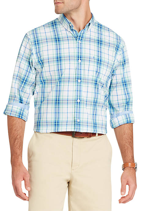 IZOD Long Sleeve Flex Plaid Button Down Shirt