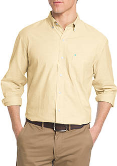 IZOD Solid Oxford Long Sleeve Shirt