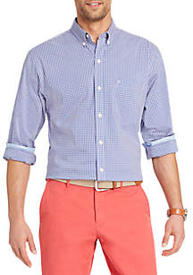 Long Sleeve Flex Gingham Shirt