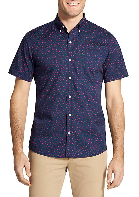 IZOD Big & Tall Short Sleeve Star Print