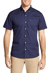 Big & Tall Short Sleeve Star Print Breeze Shirt