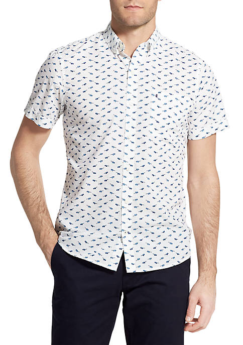 IZOD Big & Tall Short Sleeve Sunglass Print