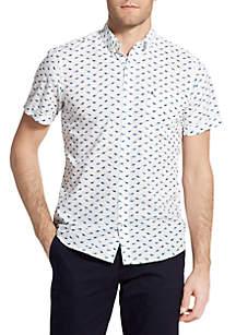 Big & Tall Short Sleeve Sunglass Print Breeze Shirt