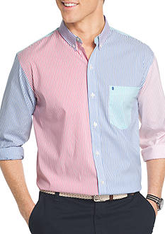 IZOD Big & Tall Newport Oxford Striped Shirt