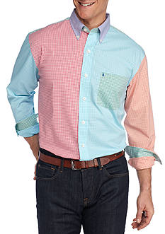 IZOD Big & Tall Advantage Gingham Party Shirt