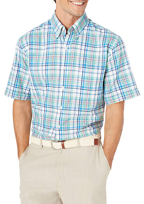 IZOD Big & Tall Short Sleeve Chambray Medium
