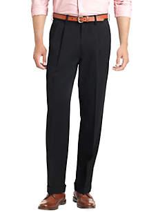 IZOD Big & Tall Twill Wrinkle Free Dress Shirt & Ultimate Travel Pleated Wrinkle Resistant Pants