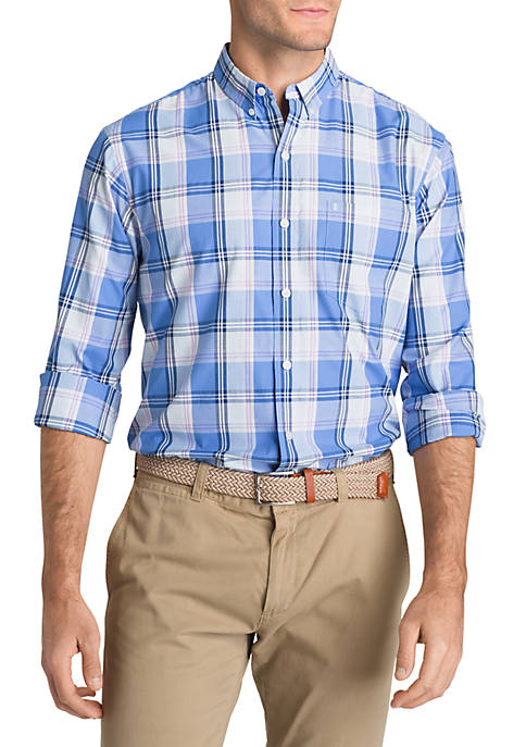 IZOD Big & Tall Breeze Plaid Short Sleeve
