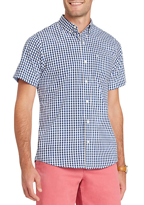 IZOD Big & Tall Short Sleeve Breeze Gingham