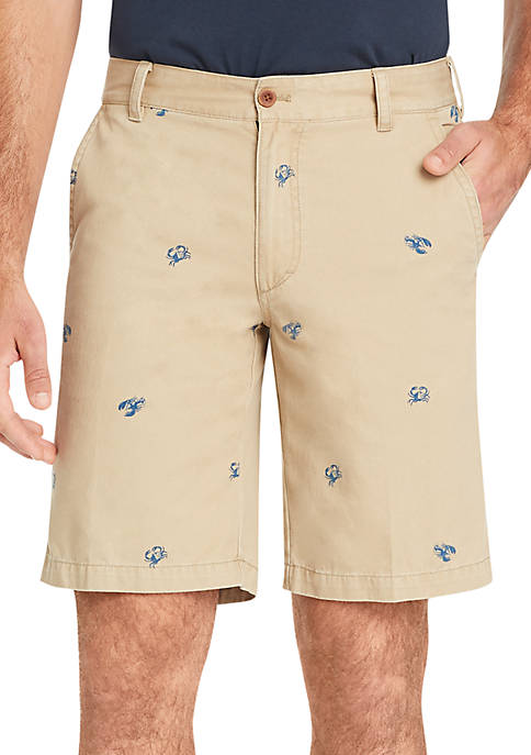 IZOD Big & Tall Flat Front Crab Shiffili