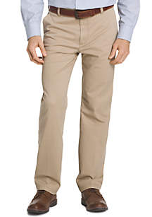 Big & Tall Straight Fit Flat Front Performance Stretch Pants