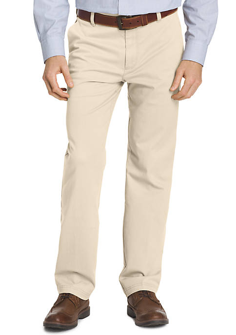 IZOD Big & Tall Straight Fit Flat Front