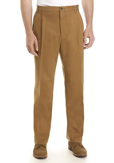 Big & Tall Saltwater Stretch Pleated Pants