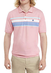 Short Sleeve Colorblock Performance Polo