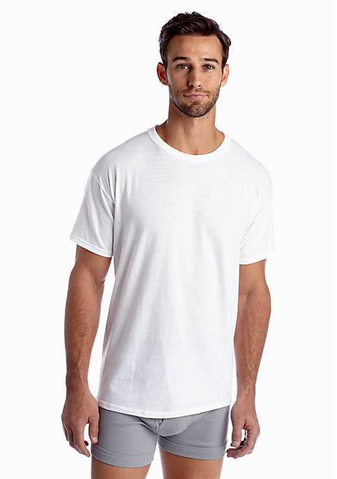 Hanes® Ultimates 6-Pack Crew Neck Tagless T-Shirts