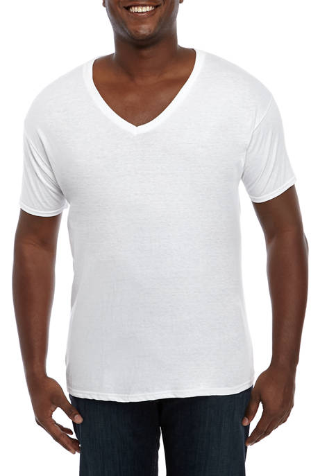 Big & Tall Set of 3 White V Neck T-Shirts
