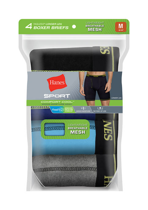 Hanes® Ultimate Sport Breathable Mesh Long Leg Boxer