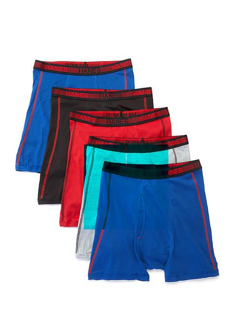 Bonus Pack 4+1 Sport Cotton Boxer Briefs