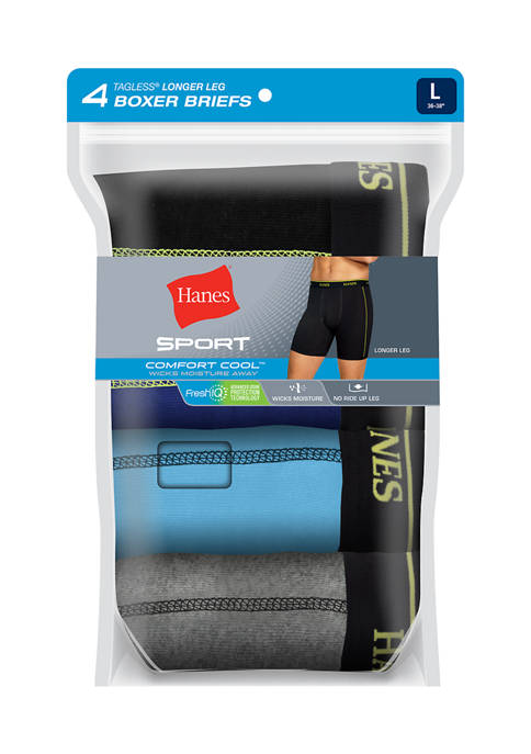 Hanes® 4 Pack Ultimate Sport Wicking Boxer Briefs