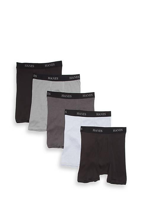 Hanes® Platinum Boxer Briefs 5 Pack