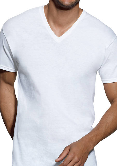 Platinum XTemp Cool Comfort Tagless® V Neck T Shirts 4 Pack