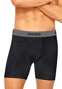 Hanes® Platinum Stretch Longer Leg Tagless® Boxer Briefs 4 Pack