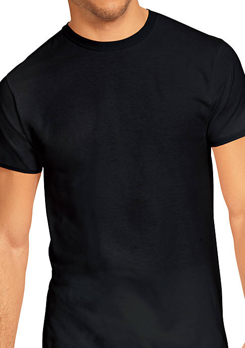 Hanes® Platinum Stretch Tagless® Crew Neck T Shirts