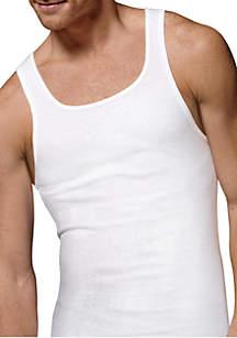 a663fe055c988e ... Hanes® 5 Pack White A Shirt Tank Set