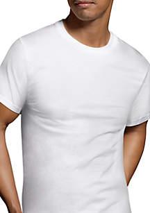 Hanes® Platinum Classic Cotton Everyday Comfort Tagless® T Shirt 6 Pack